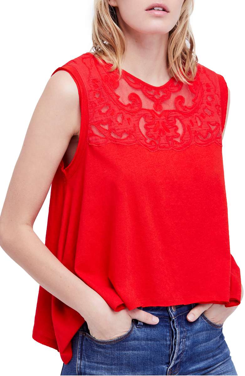 Free People Meant to Be Swing Top - Nordstrom | Nursing Friendly Tops | Breastfeeding Fashion | Mom Style | Mom Fashion | Summer Style | Memorial Day Outfit | July 4th Outfit